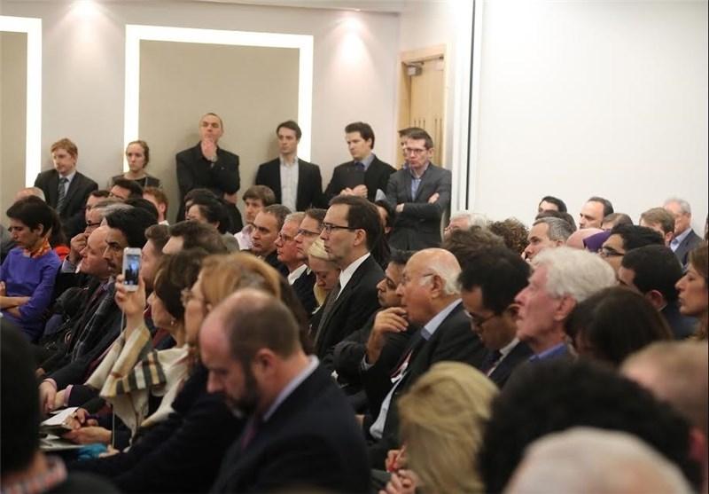 حضور «آلن ایر» در سخنرانی ظریف +عکس
