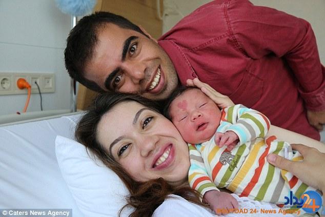 نوزادی که با یک قلب روی پیشانی به دنیا آمد (تصاویر)