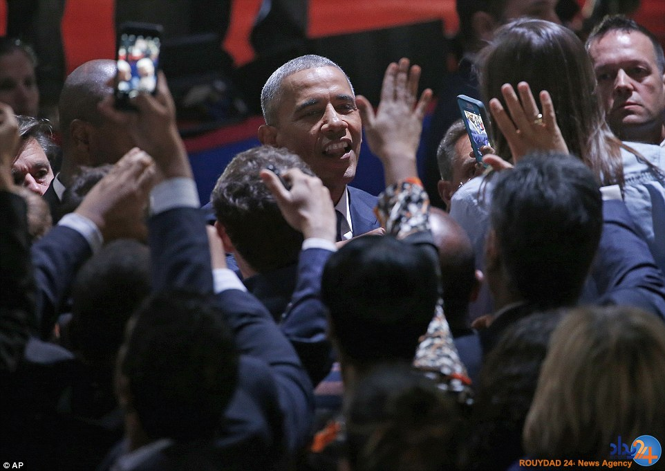 چهره اشکبار اوباما در نطق خداحافظی (تصاویر)