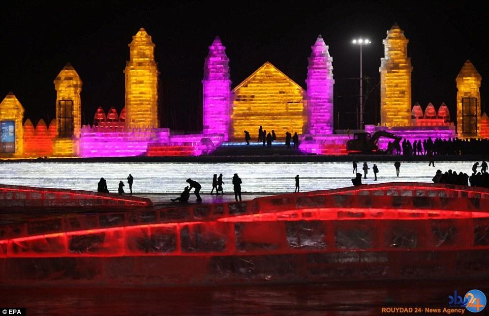 شهر یخی چین با دمای منجمدکننده (تصاویر)
