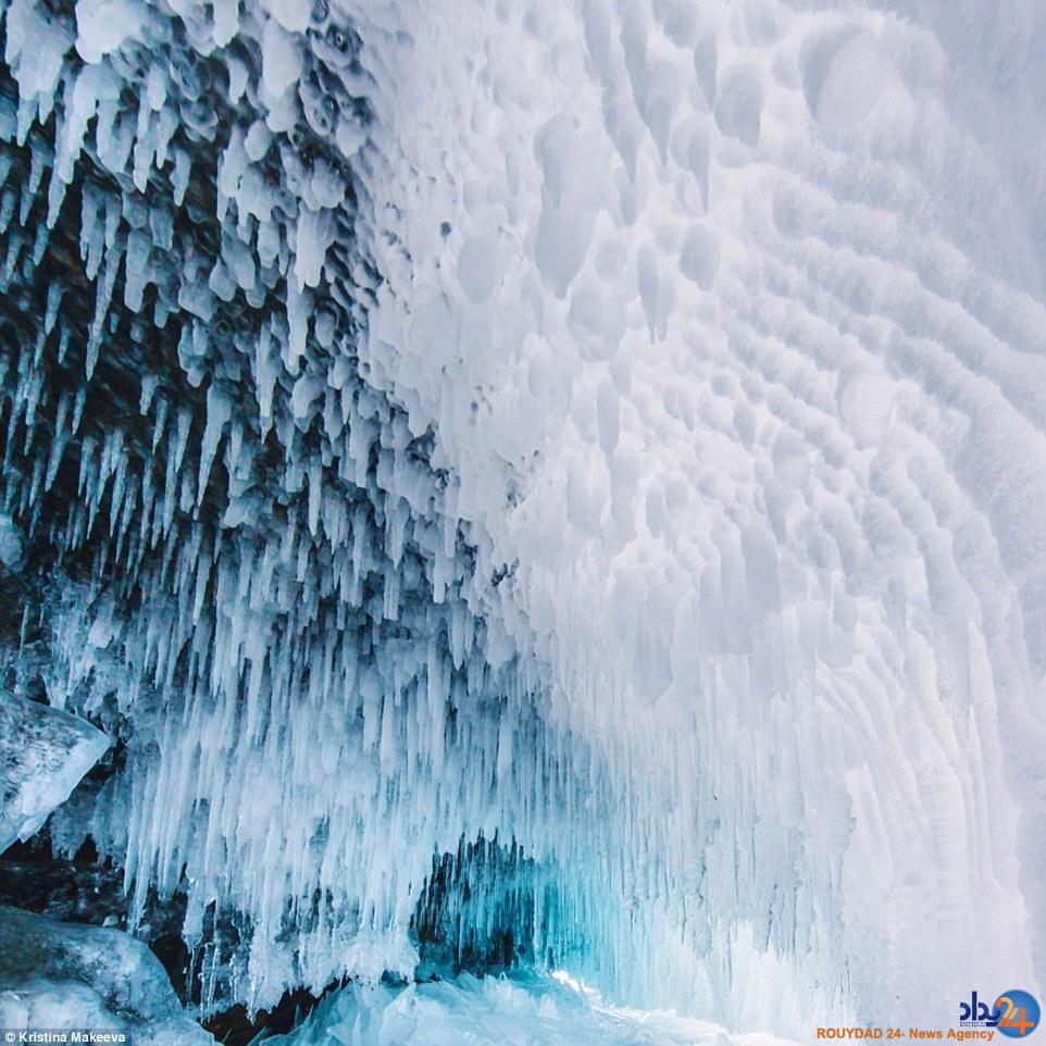 عمیقترین دریاچه یخزده جهان در سیبری (تصاویر)