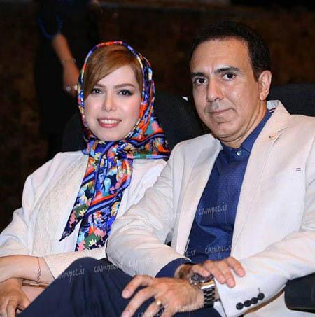 مزدک میرزایی مجری تلویزیون در کنار همسرش (تصویر)