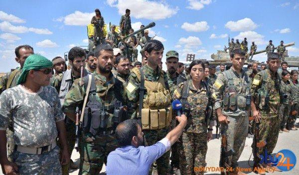 این زن فرمانده آزادسازی رقه است (تصویر)