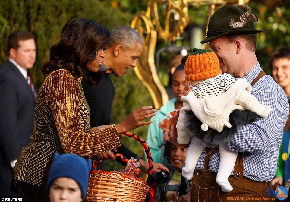 میشل و باراک اوباما میزبان میهمانی هالووین کودکان در کاخ سفید (تصاویر)