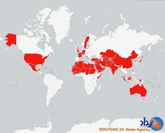 نقشه تمام کشورهایی که ترامپ به آنها توهین کرده است (تصویر)