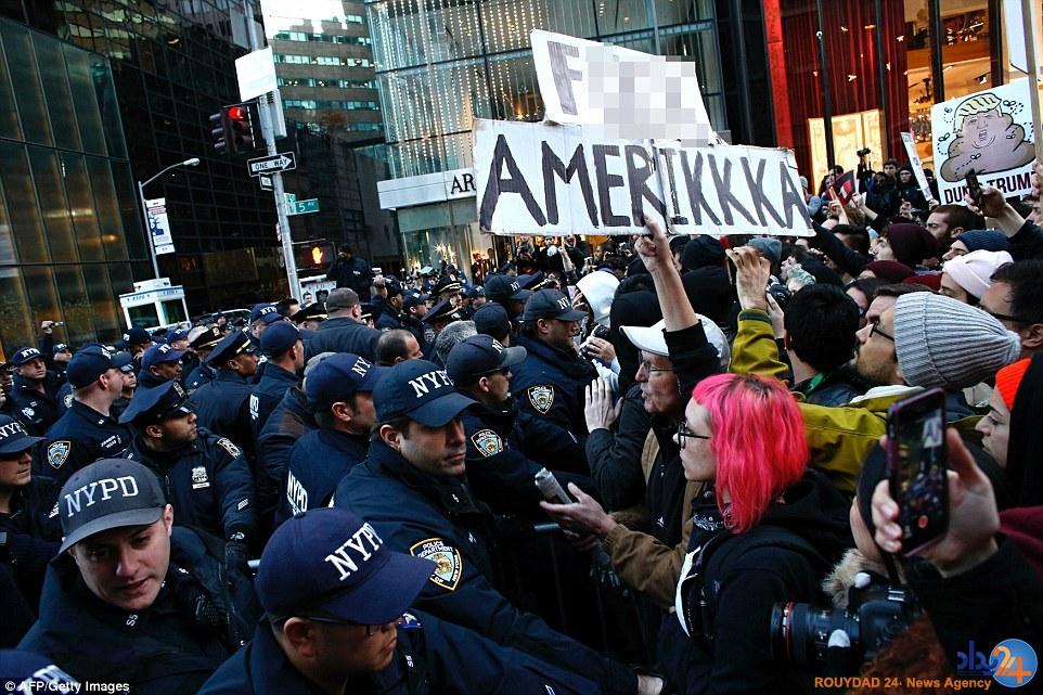 گسترش اعتراضات ضدترامپ در سرتاسر آمریکا (تصاویر)