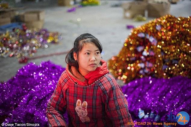 چین تولیدکننده 60 درصد تزئینات کریسمس جهان (تصاویر)