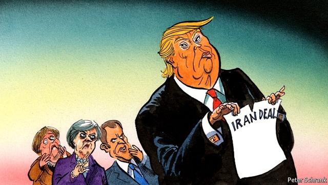 Image result for کارتون برجام منهای امریکا