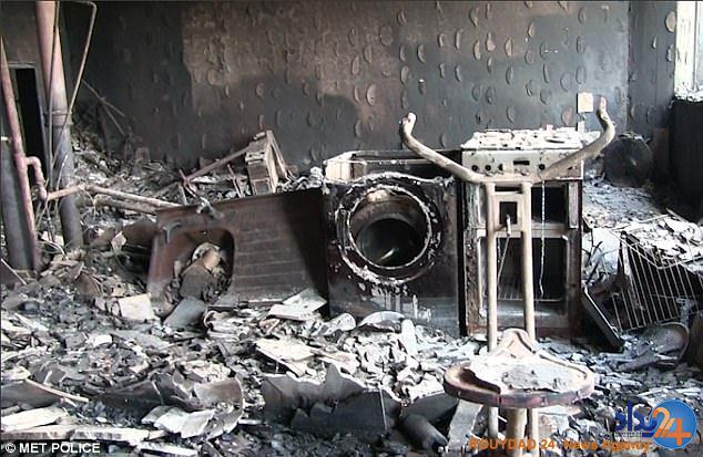 نخستین تصاویر از داخل ساختمان جهنمی در قلب لندن