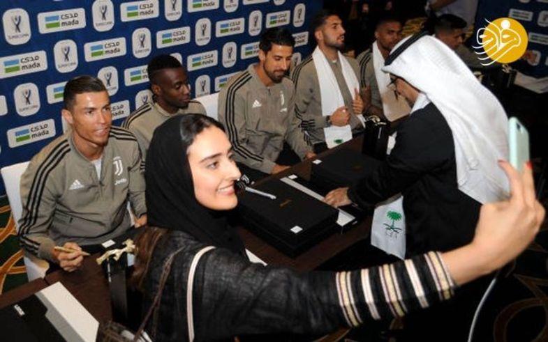 ذوق زدگی عربستانیها از دیدن رونالدو +عکس