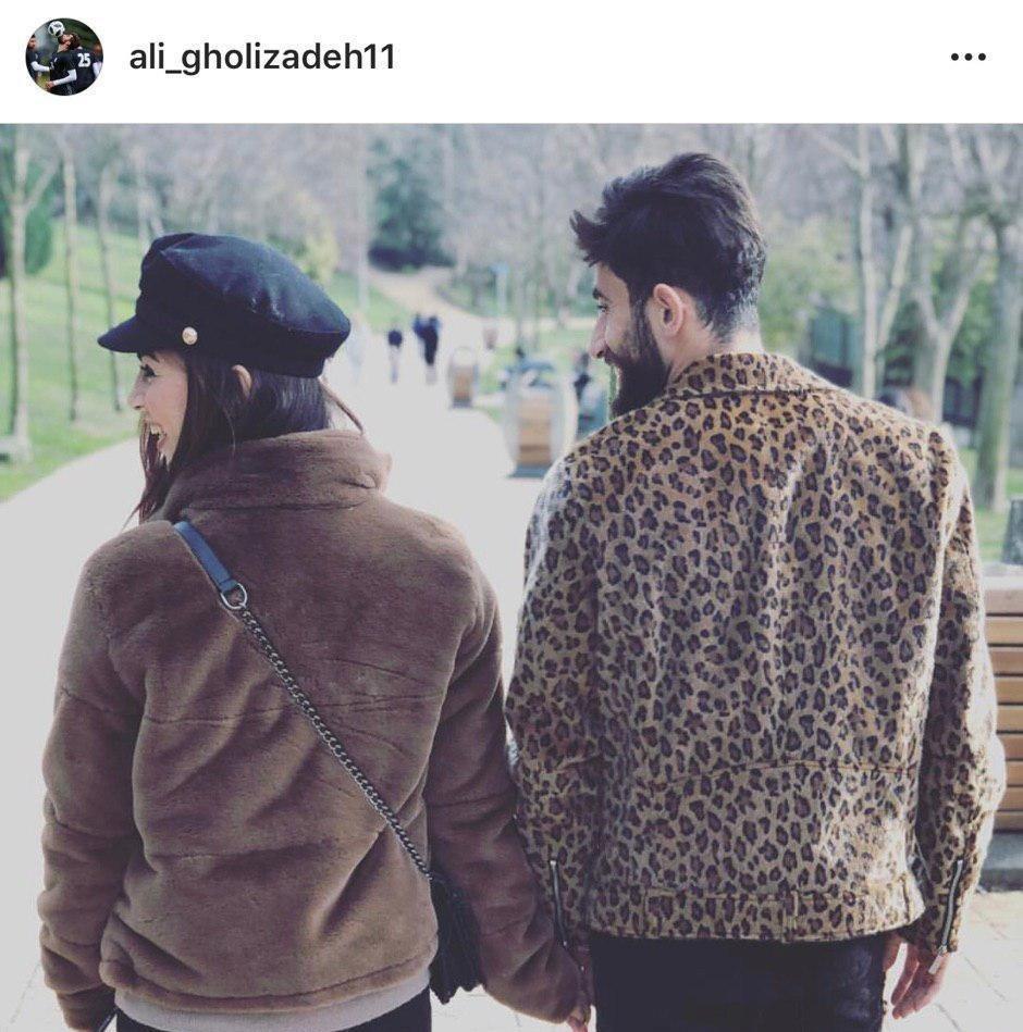 ازدواج علی قلیزاده با بازیکن فوتبال بانوان ملوان +عکس