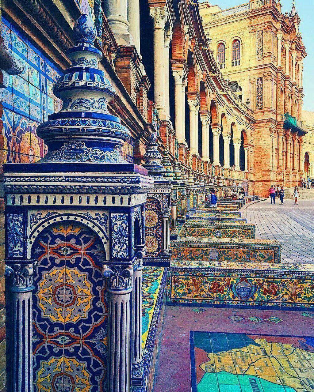 معماری زیبای ایرانی در قلب اسپانیا+عکس