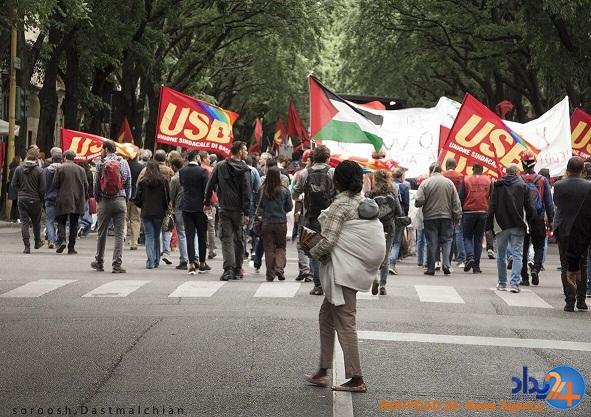 گزارش تصویری از راهپیمایی روز کارگر در میلان ایتالیا