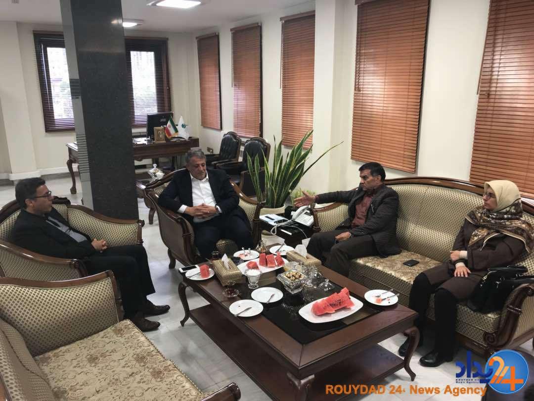 دیدار محسن هاشمی و هیات رییسه شورا با انصاری لاری