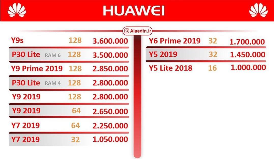 قیمت روز گوشی موبایل در بازار ۱۳۹۸/۱۲/۰۸
