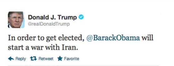 «نه به جنگ با ایران»، هشتگ داغ میان کاربران آمریکایی