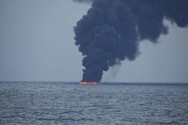 انفجار یک تانکر در دریای خزر