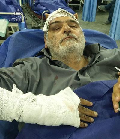 حسین اللهکرم دچار سانحه شد +عکس