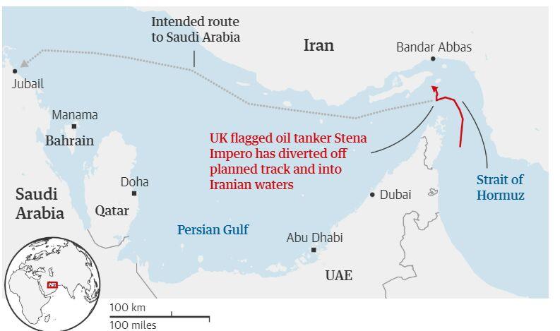 نفتکش انگلیسی با یک کشتی صیادی برخورد کرده بود