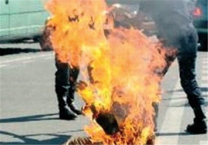 آخرین وضعیت زنی که درمقابل دادگاه خودش را آتش زد