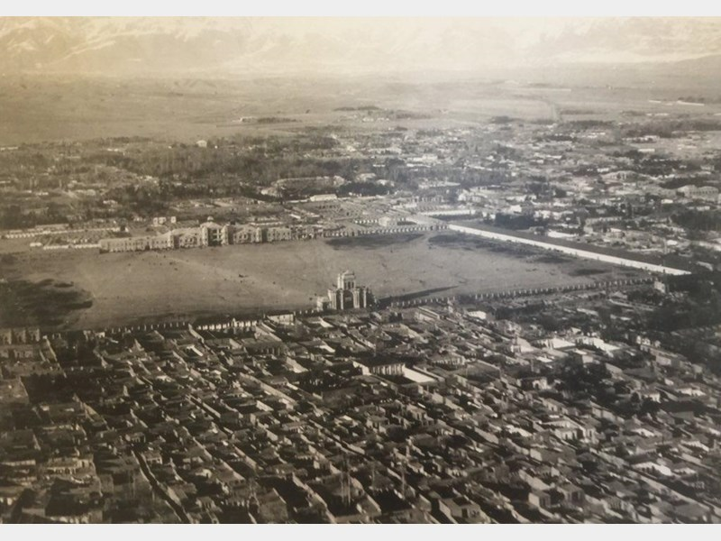 عکس هوایی تهران در زمان سلطنت احمد شاه قاجار