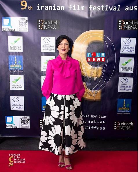 لباس جالب سارا بهرامی در جشنواره فیلم های ایرانی استرالیا +عکس