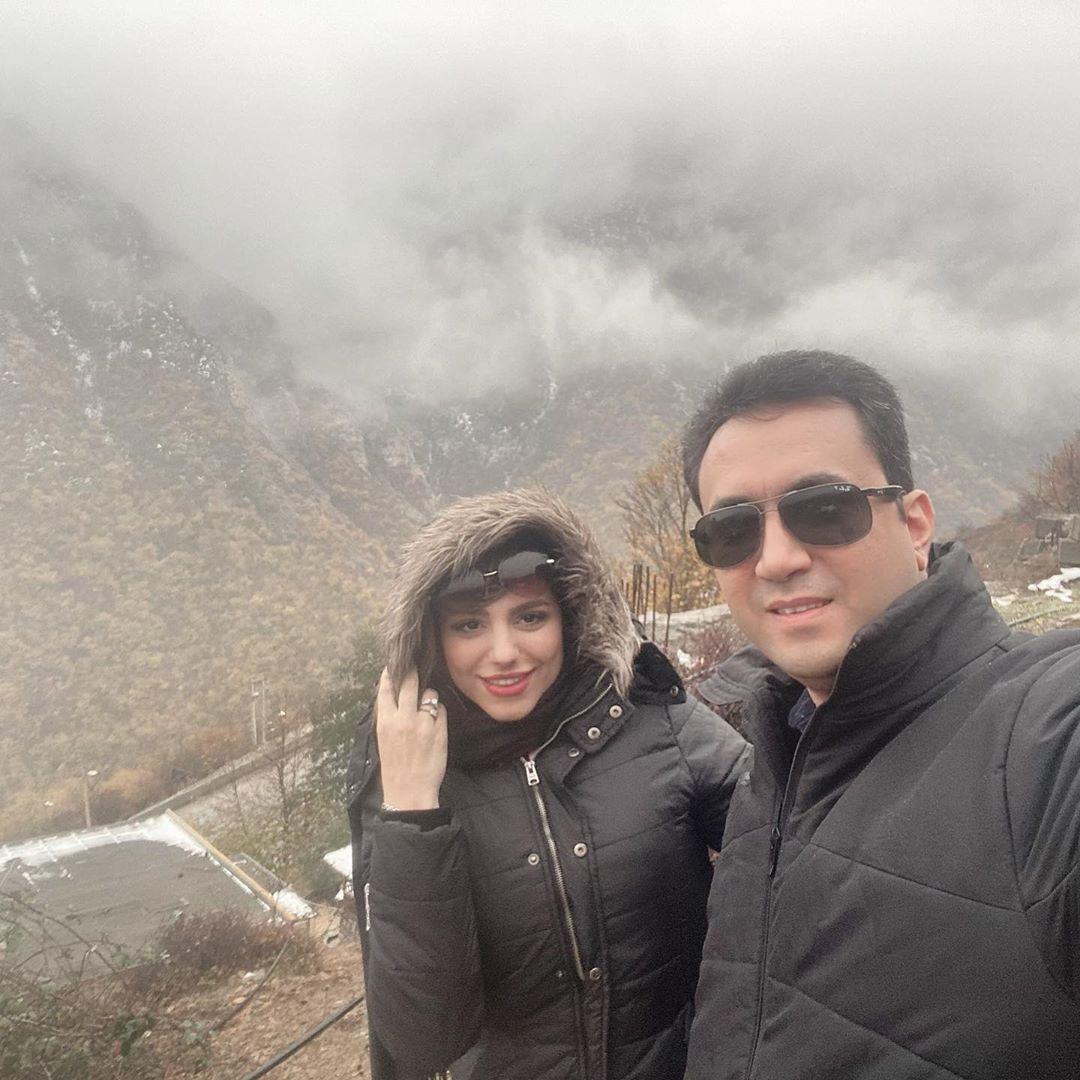 گردش مجری تازه عروس با همسرش +عکس