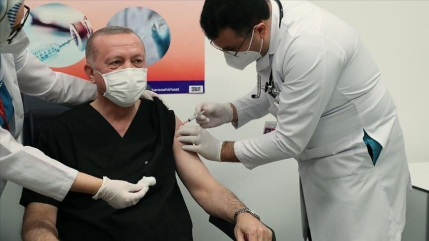 اردوغان واکسن کرونا زد + عکس