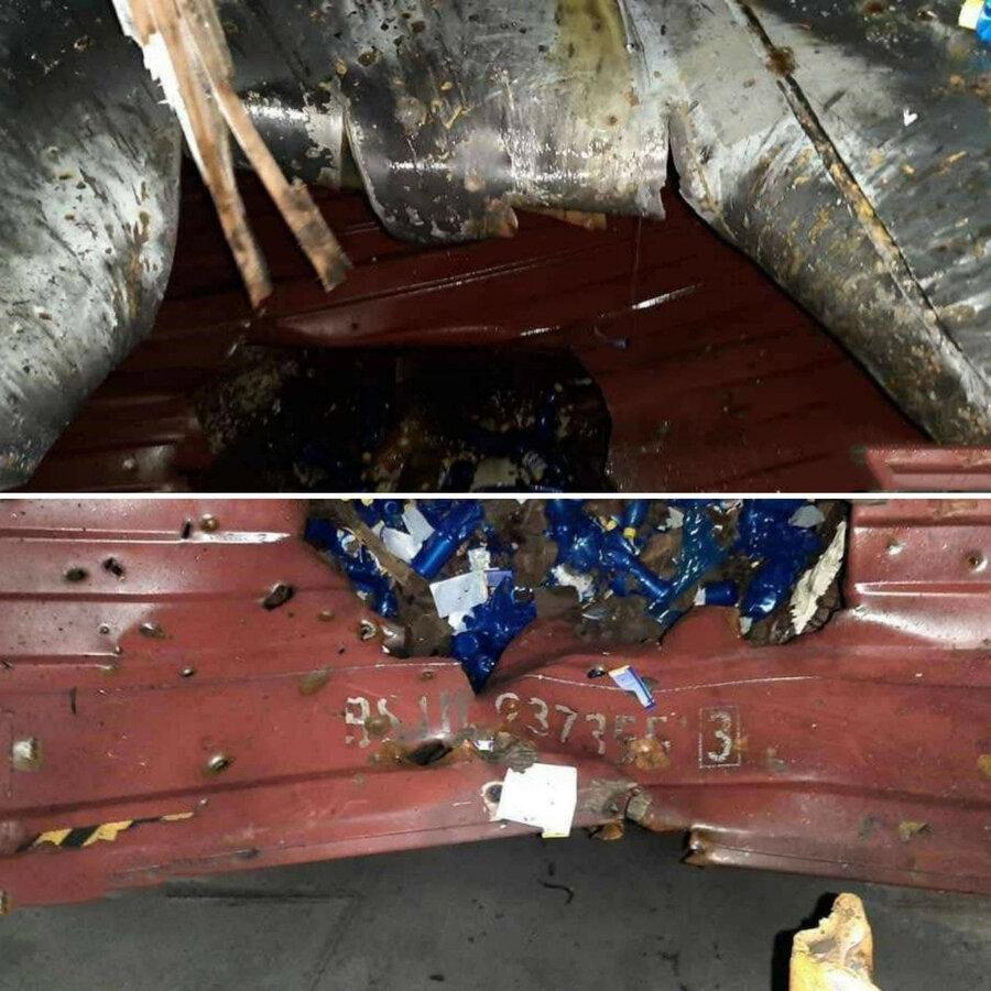 اولین تصاویر منتشر شده از آسیب وارده به کشتی کانتینربر ایران