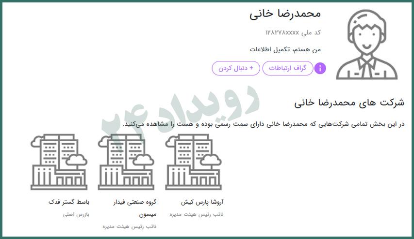 محمدرضا خانی دادگاه بانک سرمایه