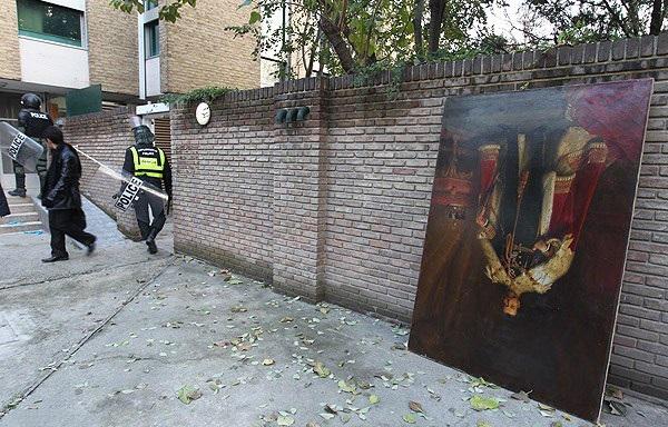 تابلوهای حمله به سفارت انگلستان
