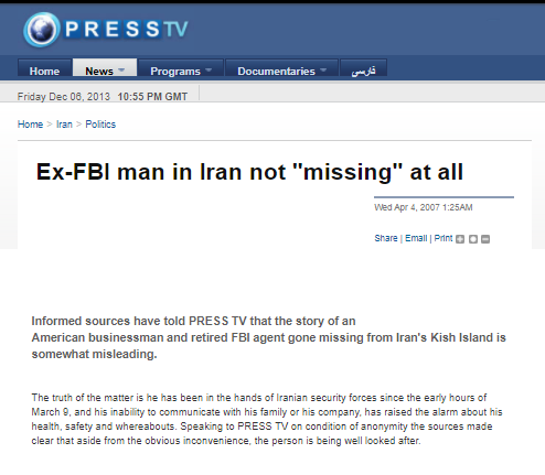 محکومیت یک و نیم میلیارد دلاری ایران در پرونده مامور گمشده سازمان سیا در کیش/ آیا رابرت لوینسون واقعا در ایران ناپدید شده؟