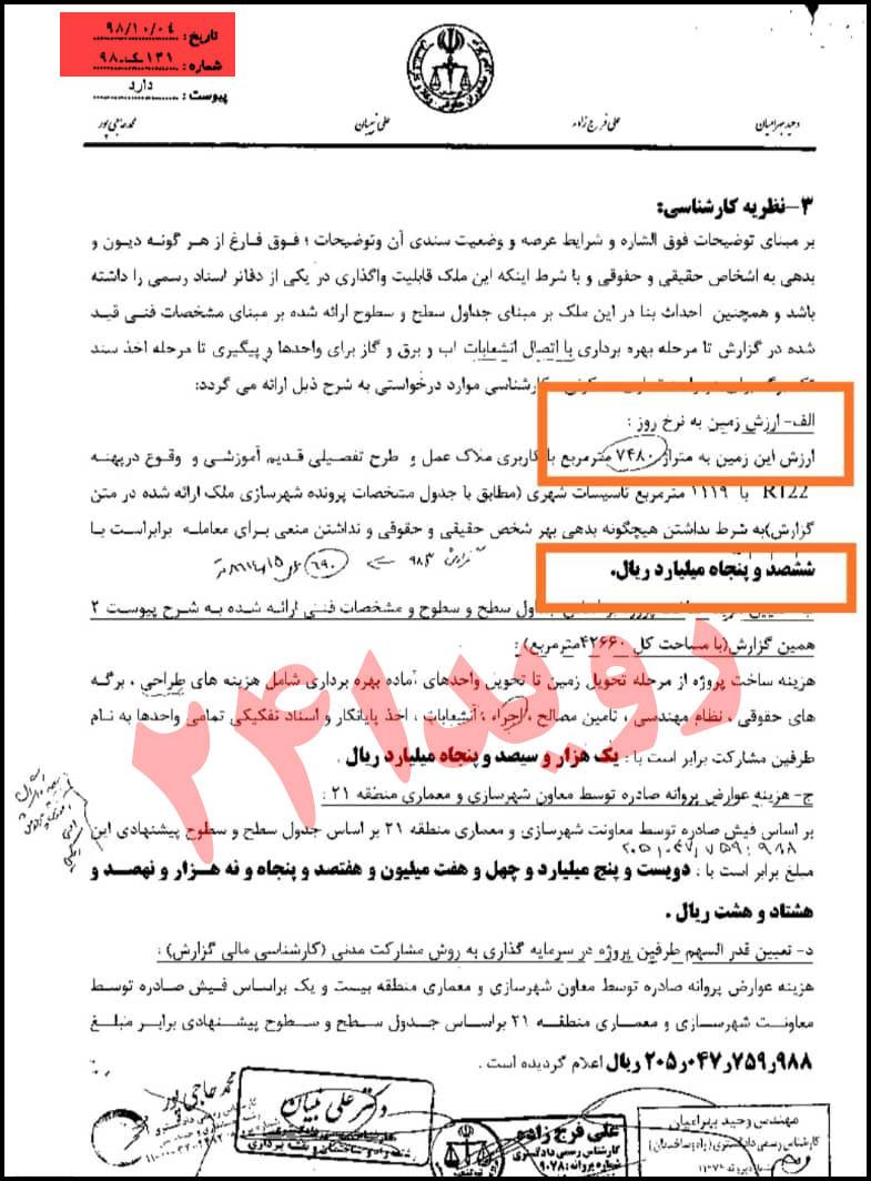 شکرالله بنار سازمان سرمایه گذاری شهرداری تهران