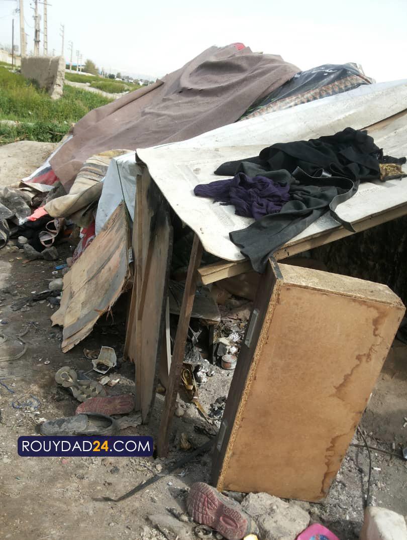 آتش زدن پناهگاه کارتنخوابهای نسیم شهر