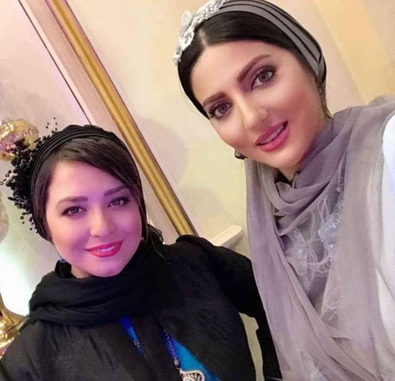 تیپ مجلسی مهرآوه شریفی نیا و هلیا امامی در عروسی + عکس