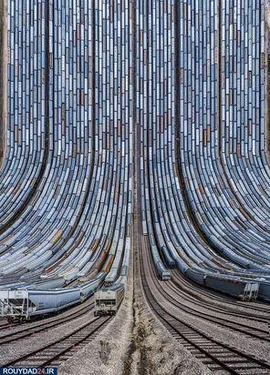 خطوط راه آهن و قطارهایی که تصاویر عجیبی را درست کردهاند