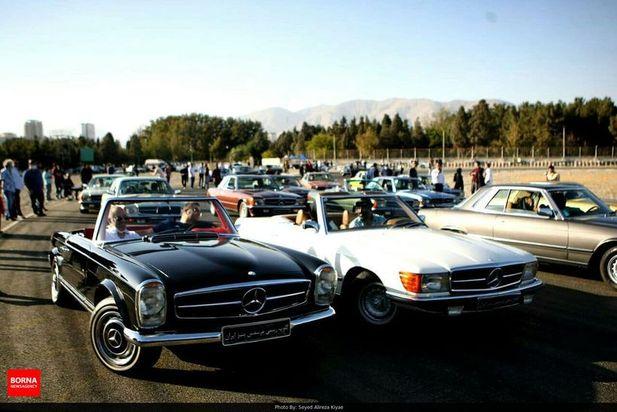 گردهمایی مرسدس بنرها در تهران
